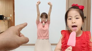 아이스크림은 나눠먹어야 되요!! 서은이와 엄마의 아이스크림 대결 카카오 게임 Seoeun VS Mommy Ice Cream Contest