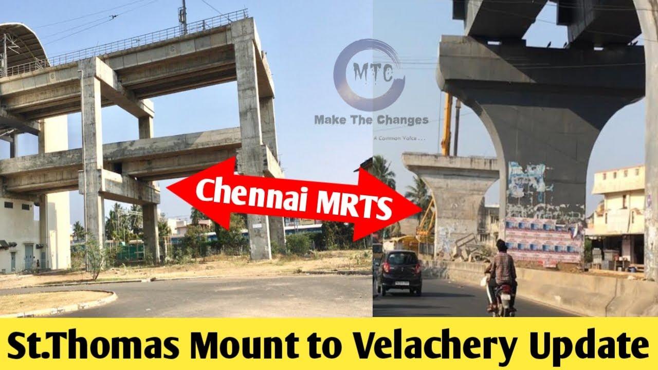 Chennai MRTS Phase 2 Extension Latest update | St thomas mount to Velachery | mount station | Live |