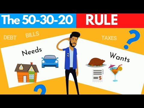 Managing Your Money Using The 50-30-20 Rule