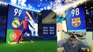 WALKOUT DEL REAL MADRID + 3 IF IN A PACK !!! TOTY PACK OPENING FIFA 18 ITA