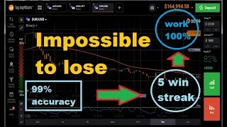 Impossible to lose - SMA 100 + RSI 16 - five win streak || iq option strategy