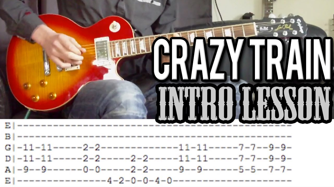Ozzy Osbourne Crazy Train Intro Guitar Lesson With Tabs Youtube