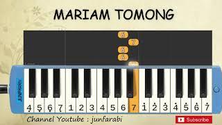 Gambar cover not pianika mariam tomong - lagu daerah - belajar pianika not angka mariam tomong