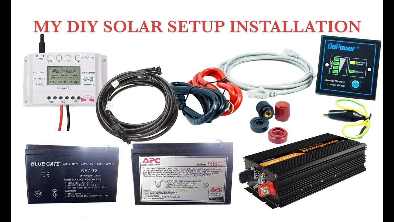 How To Make Your Own Diy Solar System Homemade Power Simple Electrical Circuit Doing It Yourself 1
