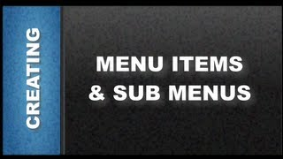Web Designer Tutorials for Xara Web Designer 8 - Creating Menu Items and Sub Menus Lesson 92