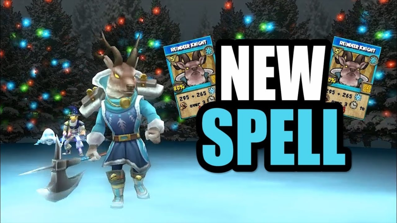 Wizard101: NEW Reindeer Knight Spell!