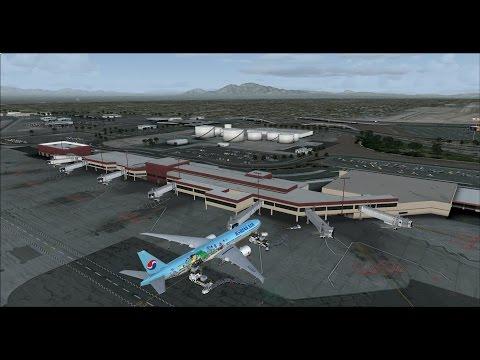 Korean air 005 RKSI-KLAS(Las Vegas) on vatsim long haul flight