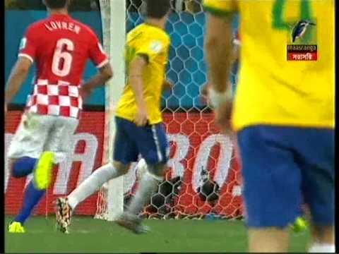 BRAZIL vs CROATIA -OSCAR GOAL