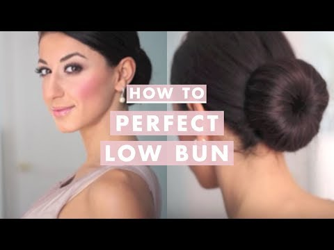 Hairstyle Using Bun : How to: Perfect Low Bun - YouTube