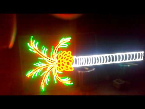 Coconut tree led runing light