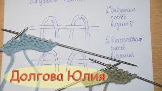 Вязание спицами для начинающих - Лицевая петля  ///  Knitting for Beginners - front loop(Будь в курсе новых видео, подписывайся на мой канал ▻http://www.youtube.com/user/hobby24rukodelie?sub_confirmation=1 Вязание спицами..., 2015-12-01T02:31:41.000Z)