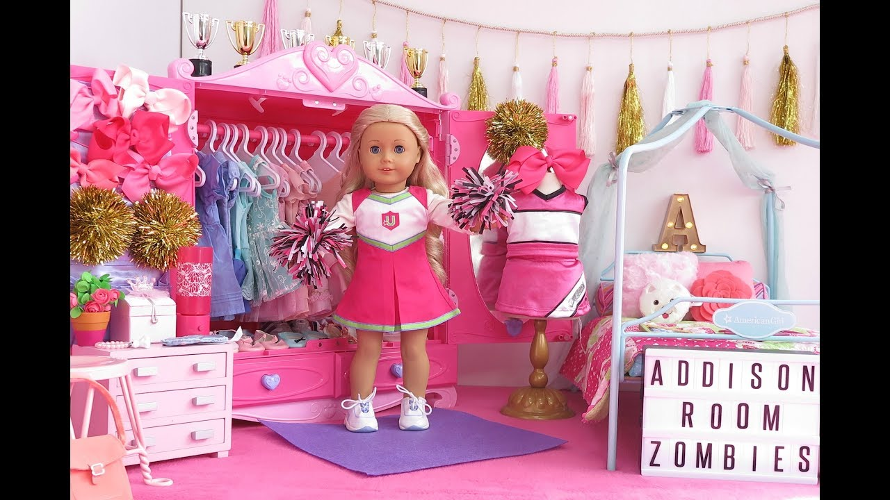 American Girl Doll Bedroom Disney Zombies Addison Youtube