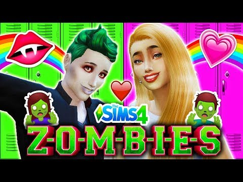 💖ZED AND ADDISON'S FIRST DATE💕 🧟Disney ZOMBIES Sims 4 (Ep 4)🧟 Disney Channel ZOMBIES (1 HOUR) 🧟