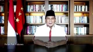 Pesan Terakhir Pak Prabowo Untuk Indonesia 25 Jui 2014