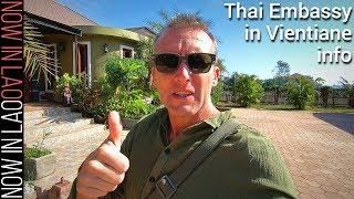 Thai Embassy in Vientiane Laos   Helpful info for getting Thailand Tourist Visa in Vientiane Laos
