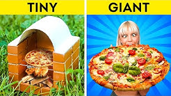 MINI FOOD vs GIANT FOOD Mouth-Watering Recipes You Should Try
