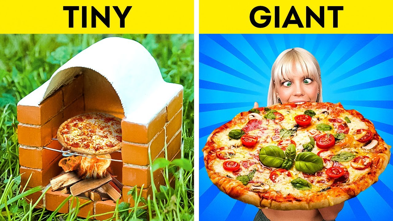 MINI FOOD vs GIANT FOOD || Mouth-Watering Recipes You Should Try