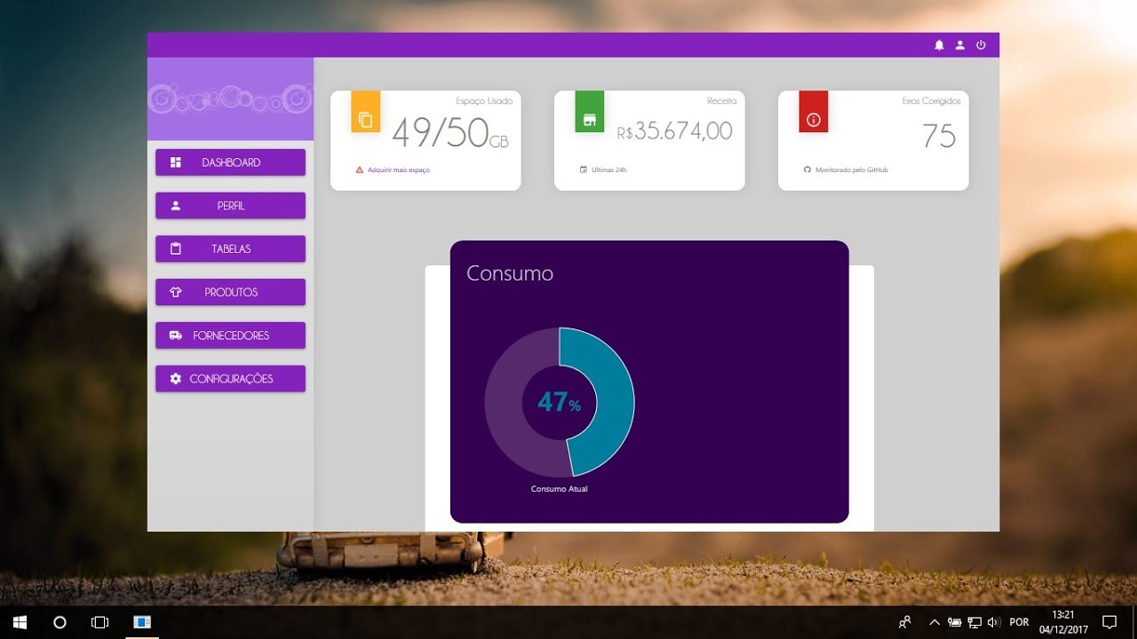 C# WPF Material Design UI: Dashboard