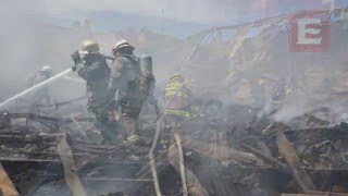 Incendio en bodega de sandalias en Guadalajara