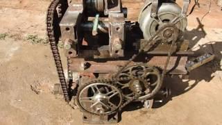 Гибочный станок без токарных работ(червячный редуктор, звёздочки велосипеда и двигателя от стиралки)