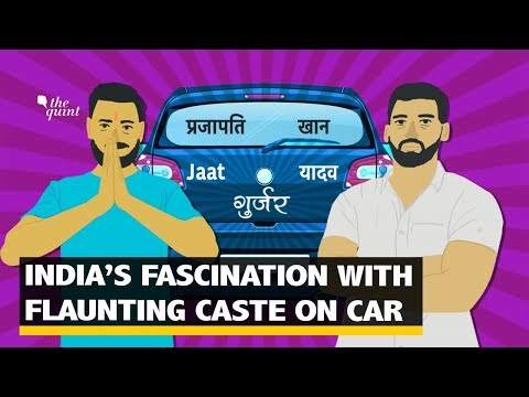 What is India's Obsession with Caste Stickers on Their Cars? | The Quint