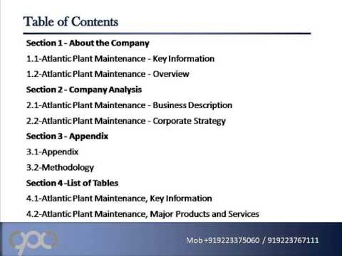 SWOT Analysis Review on Atlantic Plant Maintenance - YouTube