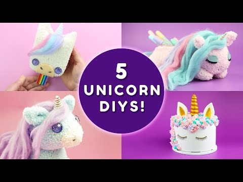 5 UNICORN DIYS YOU HAVE TO TRY! | DIY Unicorn School Supplies & Unicorn Room Decor