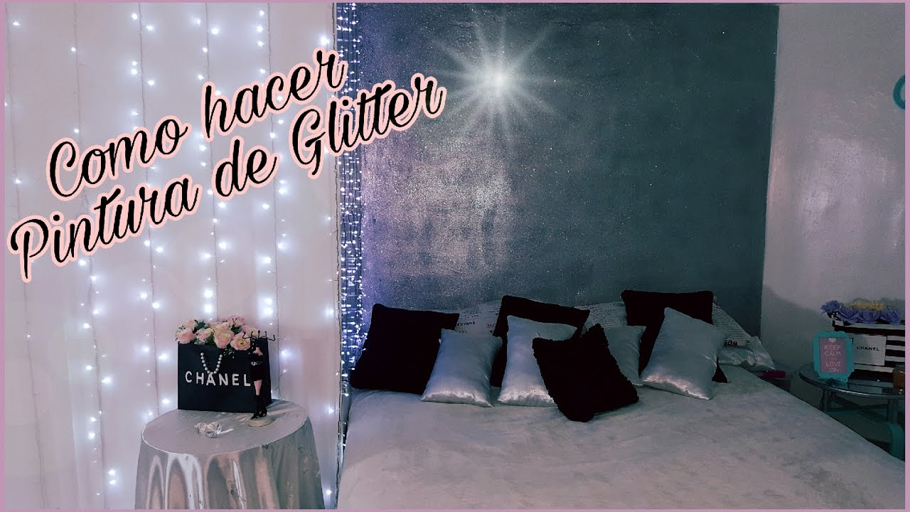 Como hacer pintura de glitter para pared renueva tu for Decoracion para pared de recamara