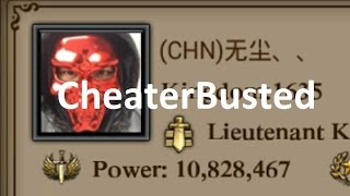 *Clash Of Kings* Chinese cheater busted *K1635