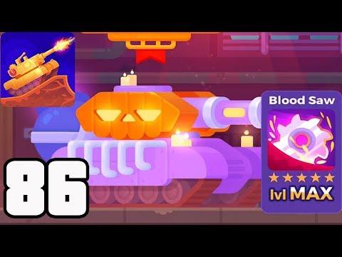 Tank Stars - Gameplay Walkthrough part 86 - Tank Pumpkin & Blood Saw max lvl (iOS,Android)