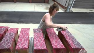 How To Paint A Lace Applique On Chalk Painted Furniture(, 2015-07-30T19:53:34.000Z)