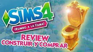 REVIEW #LosSims4 Rumbo a la Fama | Modo Comprar y Construir - RETRETES DORADOS!!!