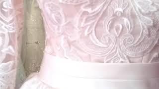 Свадебное платье цвета айвори+ шлейф