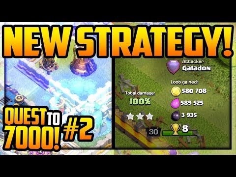 NEW ATTACK STRATEGY! Clash of Clans Quest to 7000 Trophies #2