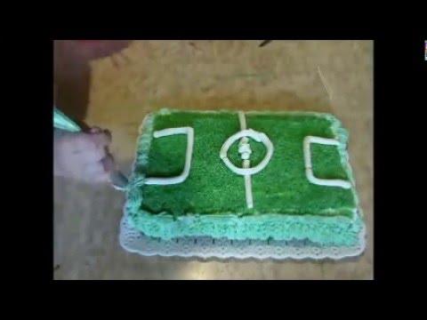 como decorar una torta de cancha de futbol