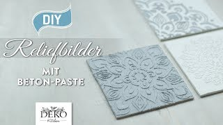 DIY: edle Reliefbilder mit Beton-Paste selbermachen [How to] Deko Kitchen