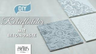 DIY: edle Reliefbilder mit Beton-Paste selbermachen [How to] Deko Kitchen