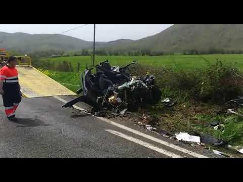 Así ha quedado el vehículo implicado en el accidente mortal de Lantz