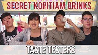 Trying Kopitiam Secret Menu Drinks   Taste Testers   EP 68