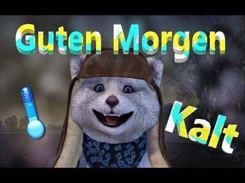 Kalt Draußenwarman Ziehen Guten Morgengood Morningschönen Tagfacerig German Deutsch