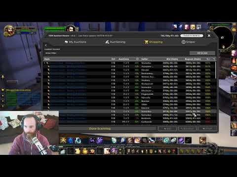 WoW Gold Making Stream - Auctions and getting started on Leatherworking