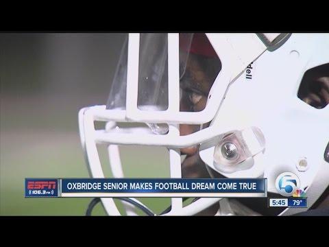 Oxbridge Academy senior makes football dream come true