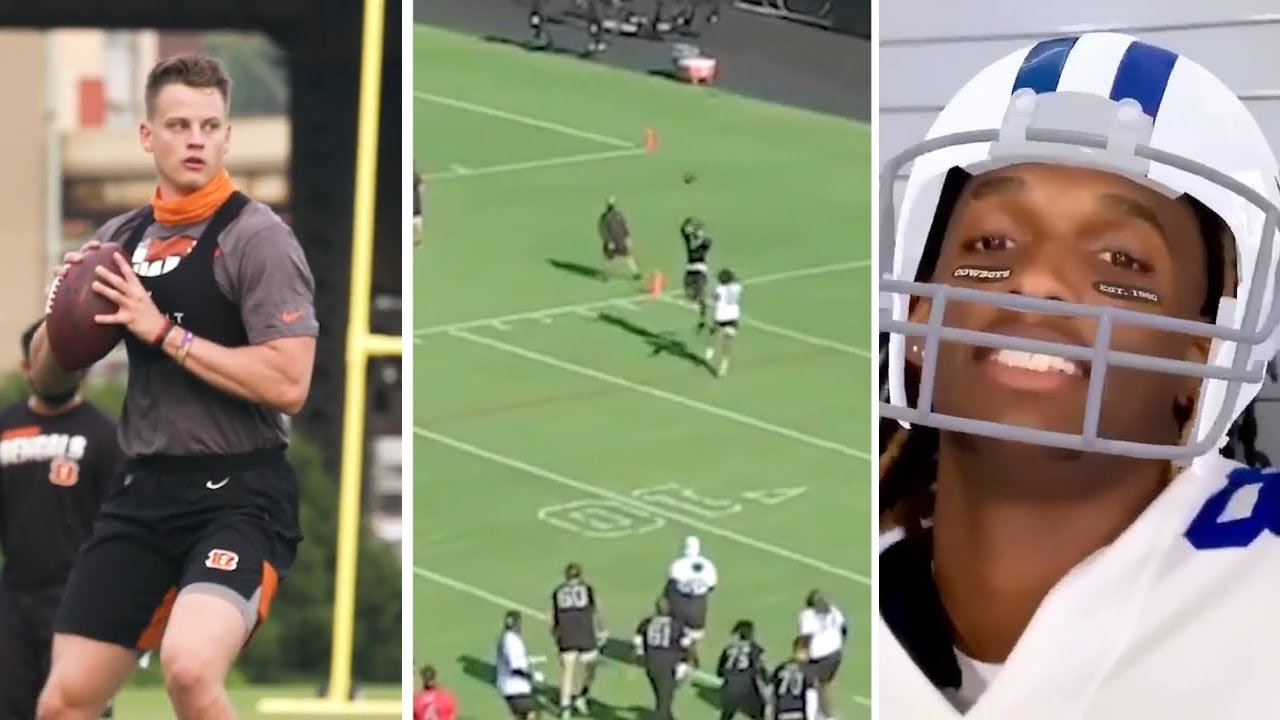 Joe Burrow, Henry Ruggs (CRAZY CATCH), Jeudy, CeeDee Lamb & Chase Young All Start Training Camp!