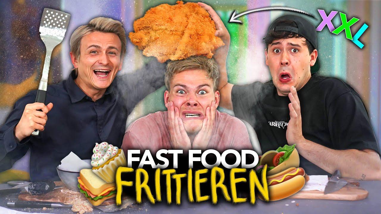 WIR FRITTIEREN FAST FOOD IN XXL mit CrispyRob & Dima | Joey's Jungle