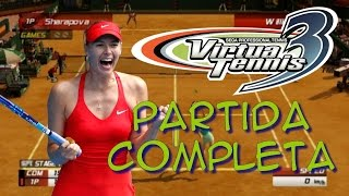Virtua Tennis 3 (PC) - Full playthrough (Maria Sharapova) - Partida comentada