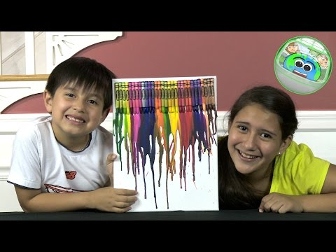 Melted Crayons Art / Arts and Crafts / Kids Creative World