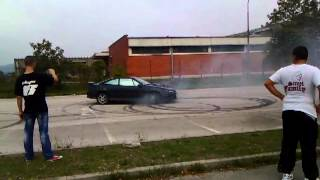 Opel Calibra 2.0 Turbo Burnout (How to sjebati auto)