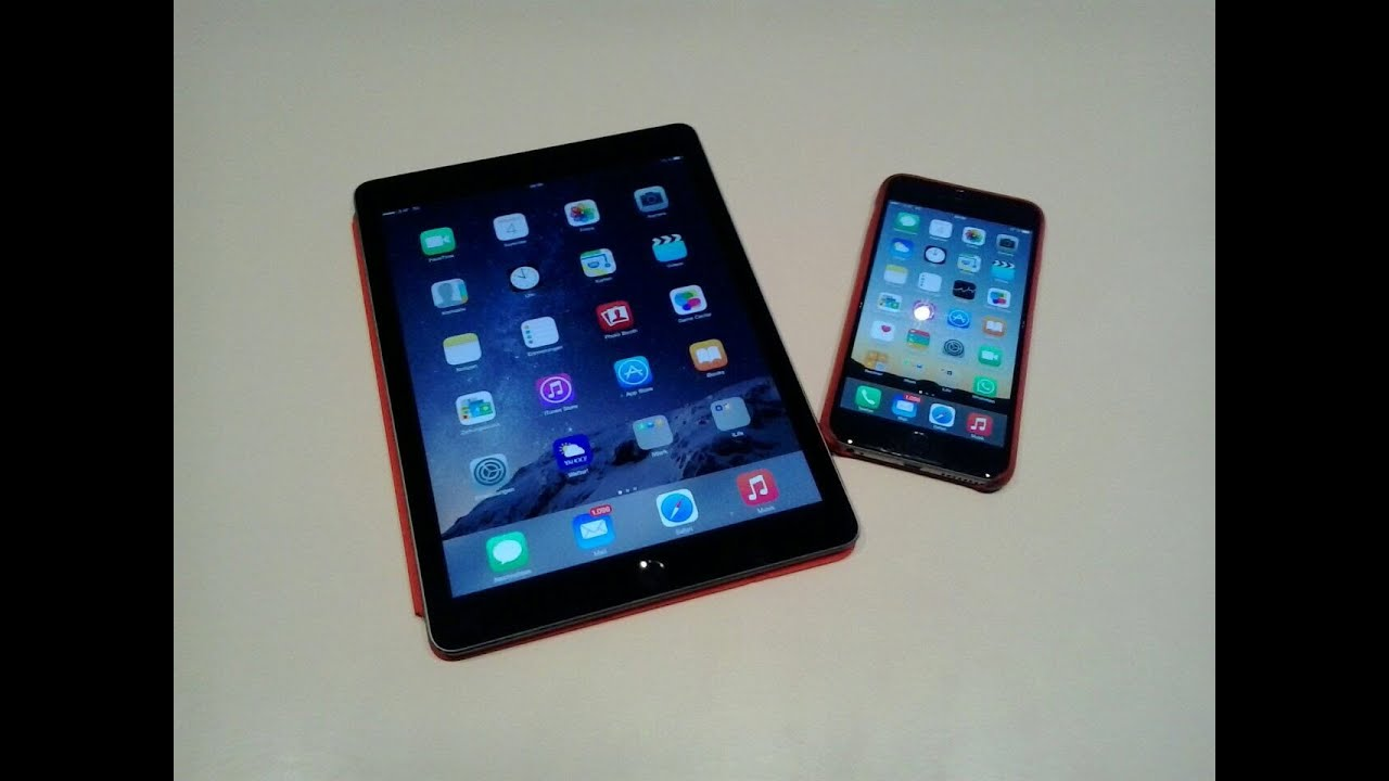 ipad air 2 vs iphone 6