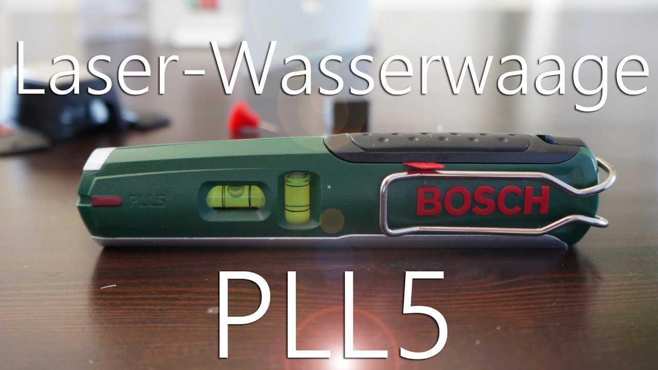 review bosch pll5 laser wasserwaage youtube. Black Bedroom Furniture Sets. Home Design Ideas
