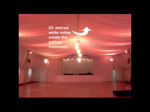 White Satin Drapes - Rental Drapes - RentWhat? Inc.